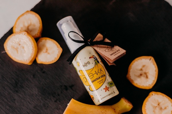 Miniversioon käte- ja kehakreemist Banana Smoothie